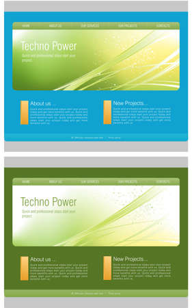 Website Template Stock Vector - 7866602