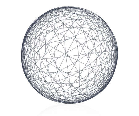 globe grid: Wireframe Abstract background isolated on white    Illustration