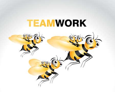 Happy Bee Character, cartoon Illustration. Stock Vector - 7866778