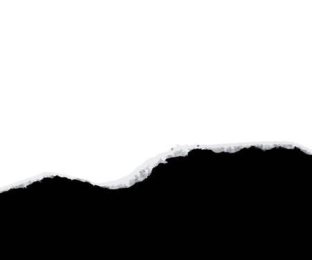 gescheurd papier, zwart onthullen...