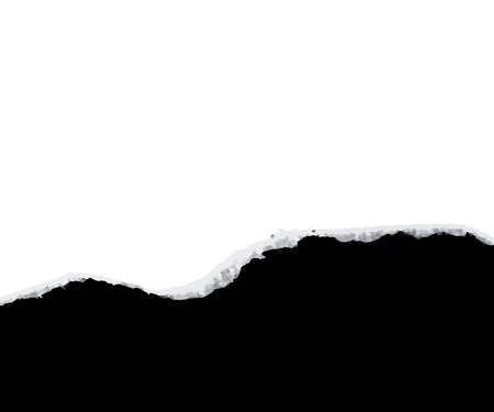 Zerrissenes Papier-Aufdeckung schwarz...