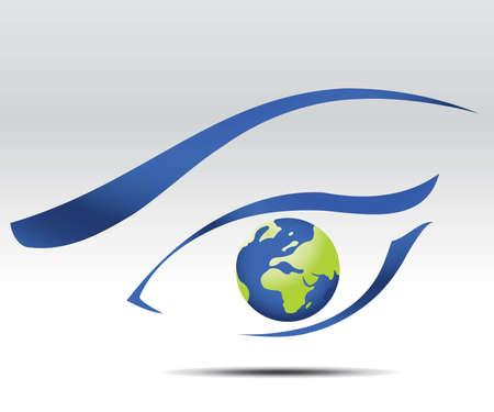 logo medicina: logotipo de ojo, visi�n de futuro  Vectores