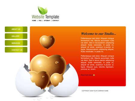 Website Template Stock Vector - 7866906
