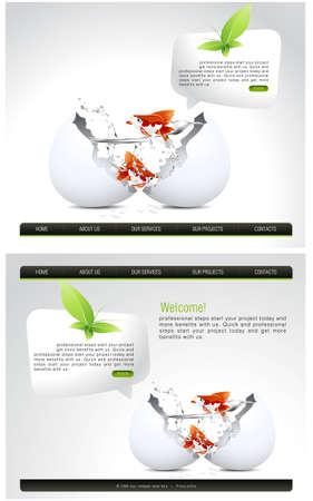 Website Template Stock Vector - 7866913