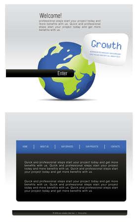 Website Template Stock Vector - 7866828