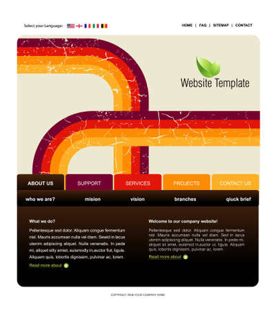 home line: Website Template