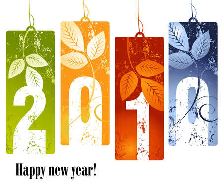 annual: new year concept 2010 Illustration
