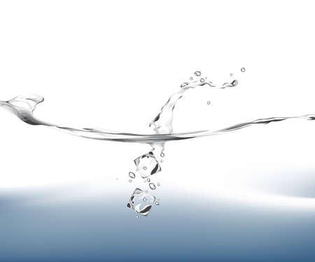 dropped: Ilustraci�n de cubos de hielo cayendo en el agua.