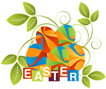 Easter Illustration Background, Easter card template. Vector