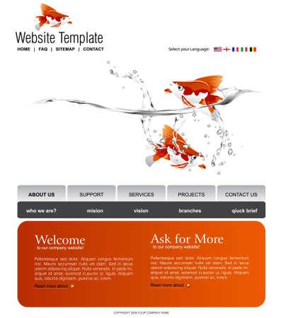 Modèle de site Web