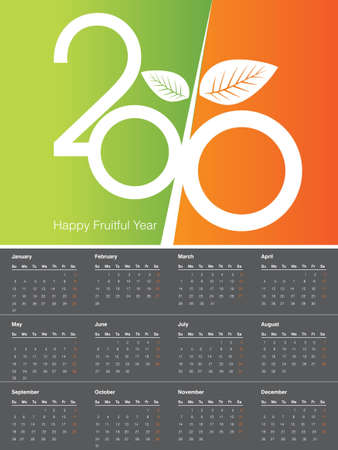 fruitful: 2010 Calendar, easy to edit.