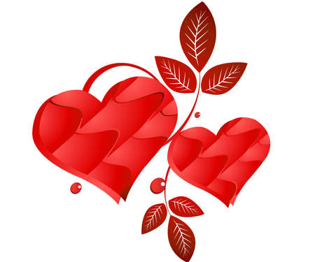Valentine Illustration, perfect concept for valentine's day easy to use it as greeting card, poster, flyer, Ad.  Stock Vector - 7866936