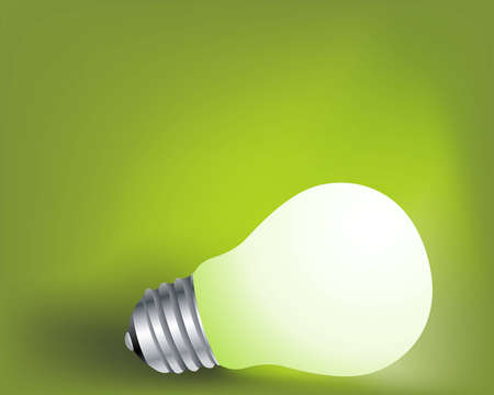 incandescent: Light  incandescent lamp, Ideas and creativity concept Illustration .