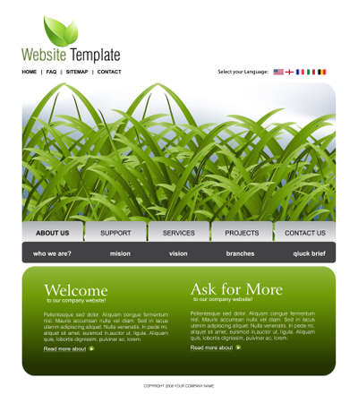 Website Template Stock Vector - 7867108