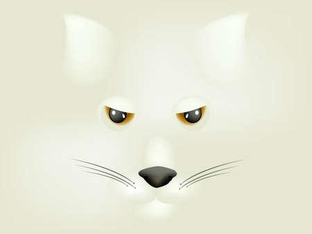 eye 3d: Fox Character, cartoon Illustration.