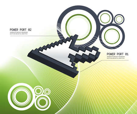 Technology and business background with good space to add your text. Stock Photo - 8047805