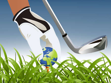 Golf Sport concept illustration . illustration