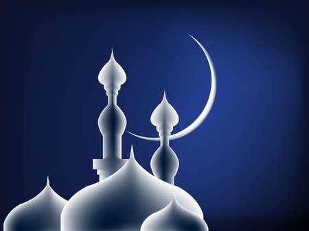 Simple Illustration for Islamic Events Like Ramadan Month, Feter Eid, Adha Eid Stock Photo