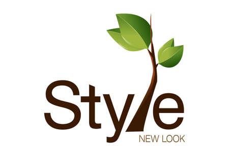 logos empresas: Dise�o de logotipo para moda, Agencia de arte.  Foto de archivo