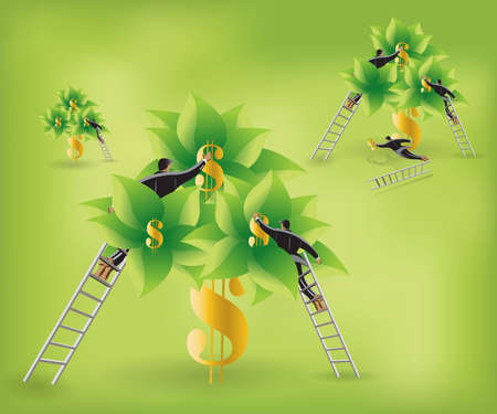 'easy come easy go': Business and Financial Concept Background .