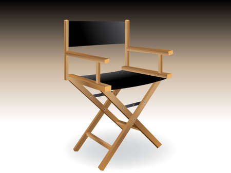 film making: Wooden foldable Director chair .