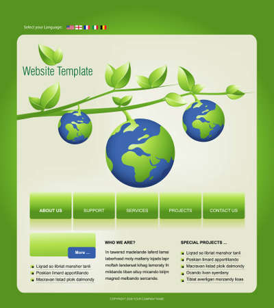 Website Template, easy to use in adobe Photoshop, Flash or Illustrator to export it to HTML format, just edit or replace text and add your sub pages. photo