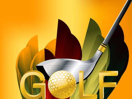 golf glove: Golf Sport concept illustration .