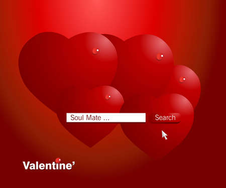 Valentine Illustration, perfect concept for valentines day easy to use it as greeting card, poster, flyer, Ad.  Vector