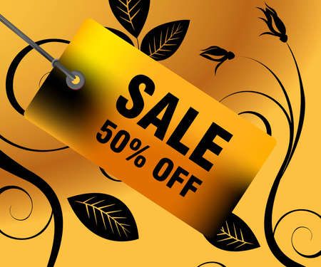 Sales and discount concept Illustration Stock Vector - 8297644