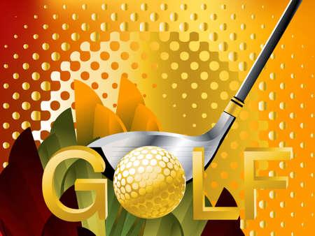 golfball: Golf Sport concept illustration .