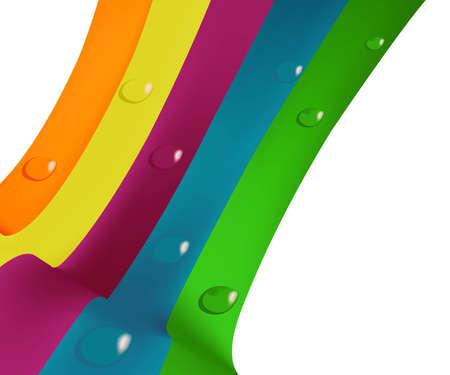 dewdrops:  illustration of colored dewdrops Illustration