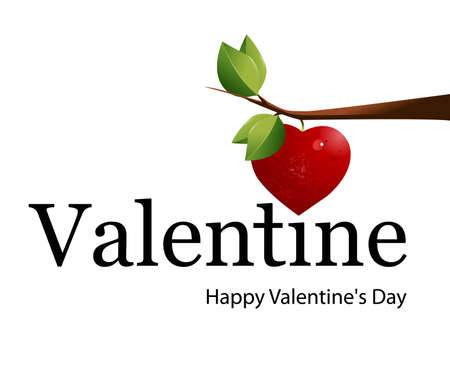 Simple logo for Valentines Day. Vector