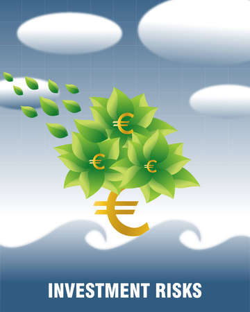 euorpe: Business and Financial Concept Background .