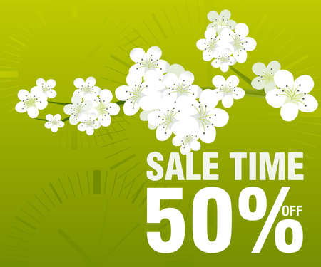 spring sale: Sales and discount concept Illustration Illustration