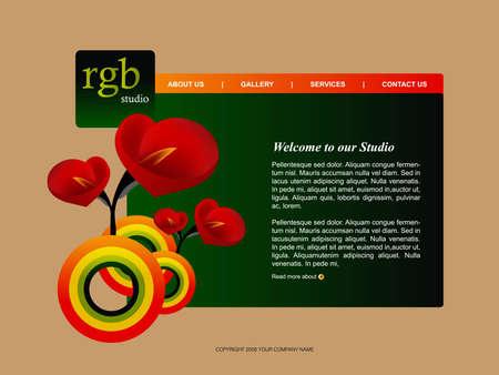 Website Template  Stock Vector - 8307435