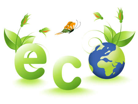 illustration of Ecology concept. Stock Vector - 8297502