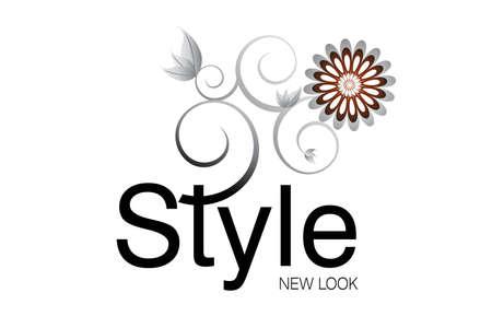 flower logo: Style Logo for Art and fashion Agencies. Illustration