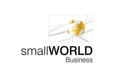 world trade: Peque�o logotipo de Mundial de negocios para las empresas de negocios inteligentes.