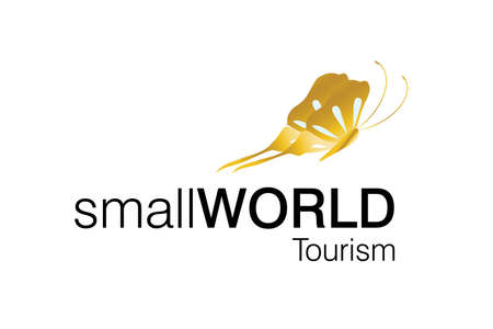 Around the world logo, for tourism companies and agencies. Vector
