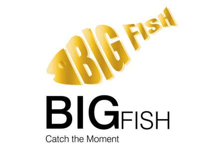 logo poisson: Conception de logo pour commerciaux. Illustration
