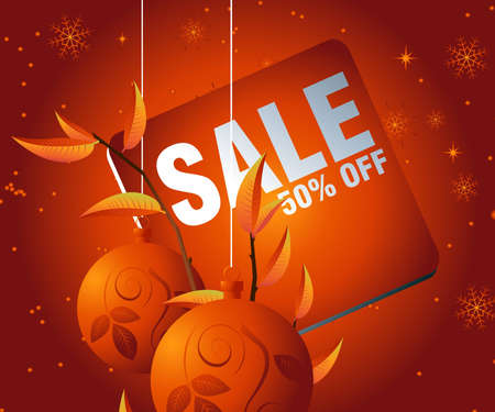 Sales and discount concept Illustration Stock Vector - 8307199