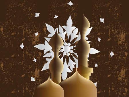Golden Arabic Calligraphy, hand writing in arabic language photo