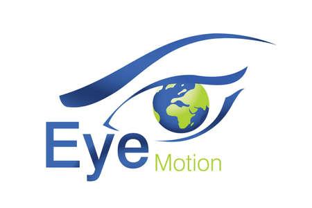 eye brow: Logo Design for beauty, animation Agency Stock Photo