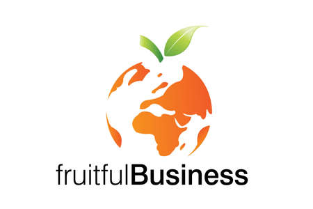 global thinking: Fruitful Business logo for smart business corporations