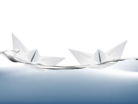 extraordinary:  illustration of White Paper boat .