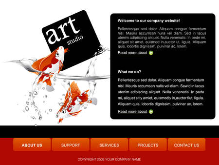 Website Template Stock Photo - 8308104