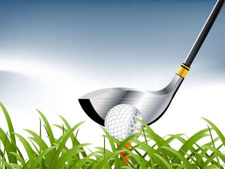 illustration of Golf Sport concept. Stock Illustration - 8298639