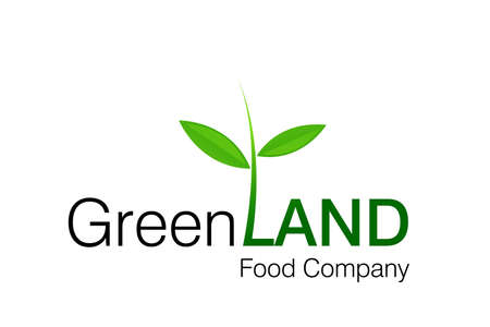 Green Land Logo for food and constructions Companies. photo
