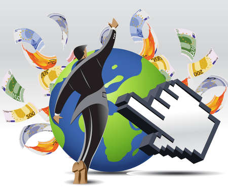 Business and Financial Concept Background .