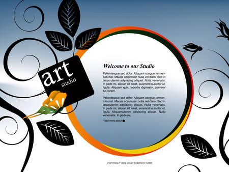 Website Template Stock Photo - 8308252